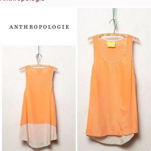 •Anthropologie• Silk Colorblock Tank Top